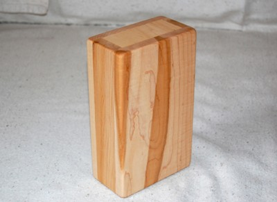 solid maple yoga block